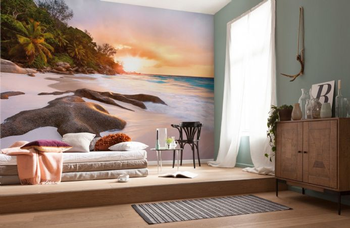 Morning in paradise wall non woven wallpapers | homewallmurals